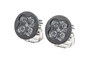 "Stage Series 3"" SAE/DOT White Pro Round LED Pod (pair)"