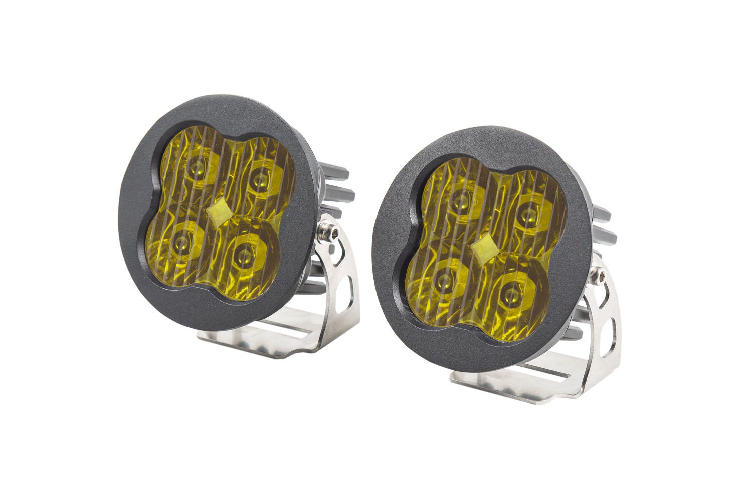 "Stage Series 3"" SAE/DOT Yellow Sport Round LED Pod (pair)"