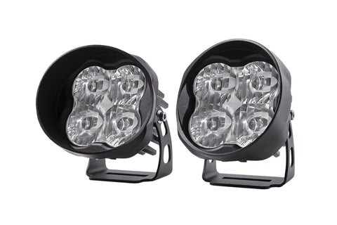 "Diode Dynamics Stage Series 3"" SAE/DOT White Pro Angled LED Pod (pair)"