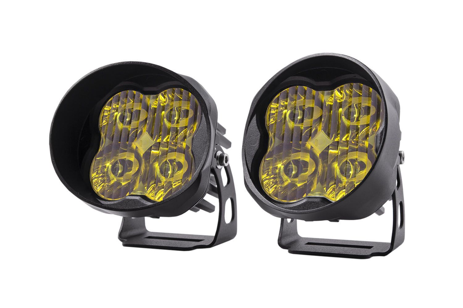 "Diode Dynamics Stage Series 3"" SAE/DOT Yellow Pro Angled LED Pod (pair)"