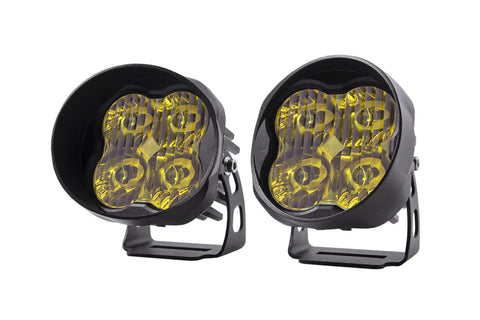"Diode Dynamics Stage Series 3"" SAE/DOT Yellow Sport Angled LED Pod (pair)"