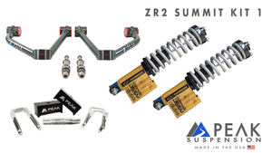 Peak Suspension ZR2 Coilover Conversion Summit Kit w/ Blocks