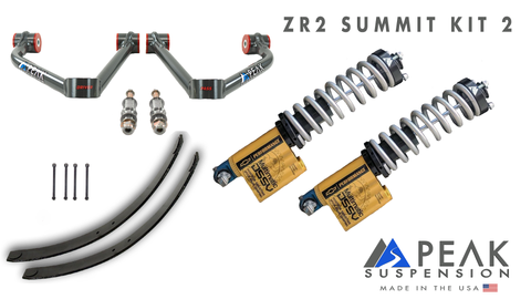 Peak Suspension ZR2 Coilover Conversion Summit Kit w/ AAL