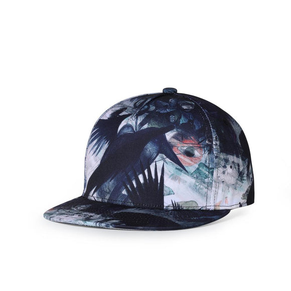 Abstract Ink Design Hip Hop Cap