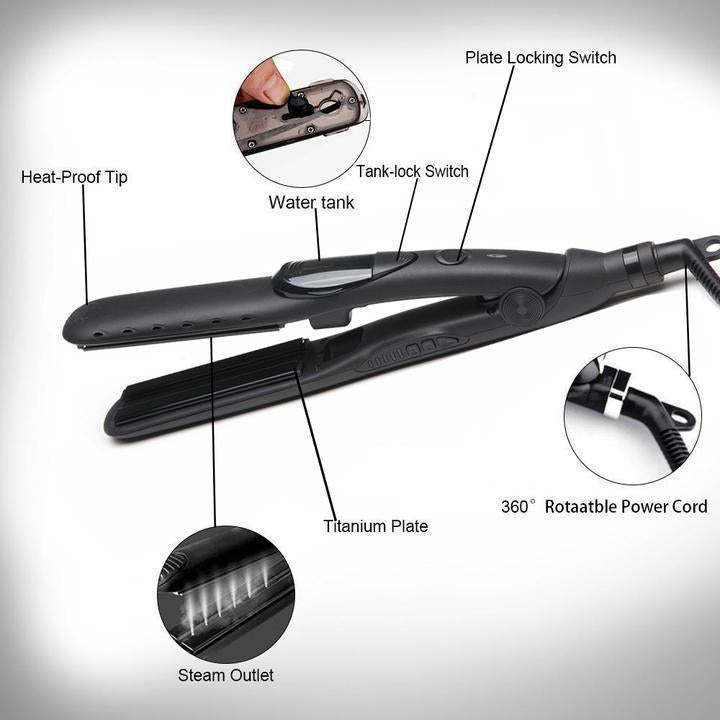 2 IN 1 STEAM Professional Hair Straightener-Exquisite Box