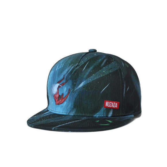 Deep Ocean Illustration Hip Hop Cap