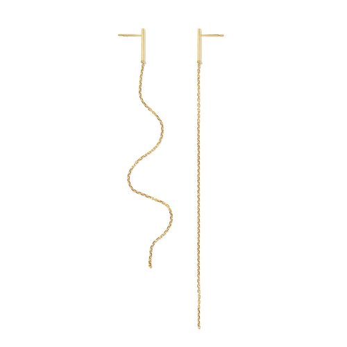 Paris Earrings Chain 18ct Gold Adriana Chede Jewellery