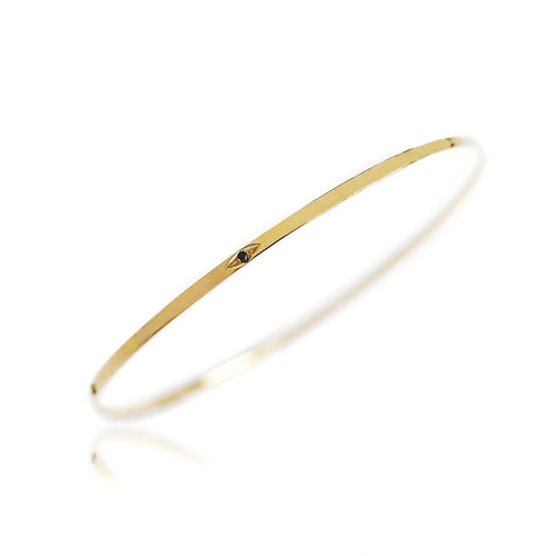 The Eye 9ct Gold Bangle - Adriana Chede Jewellery