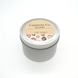 SOY CANDLE - Jam Donut (Silver Tin)