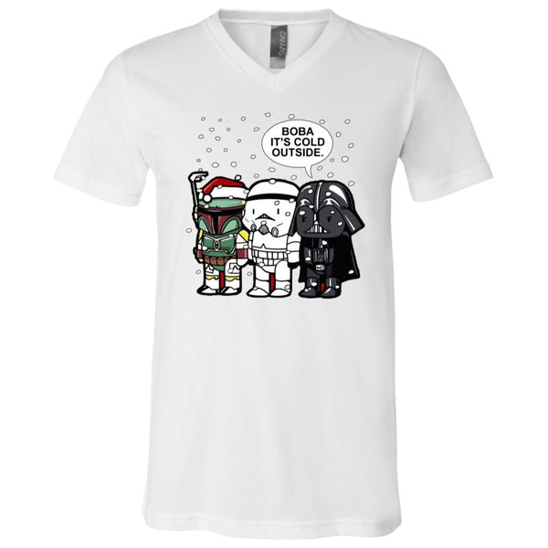 ac10f52d Great Yoda Lightsaber T-Shirt Star Wars It S Cold Outside: AGR Star Wars  Christmas Boba It's Cold Outside Shirt