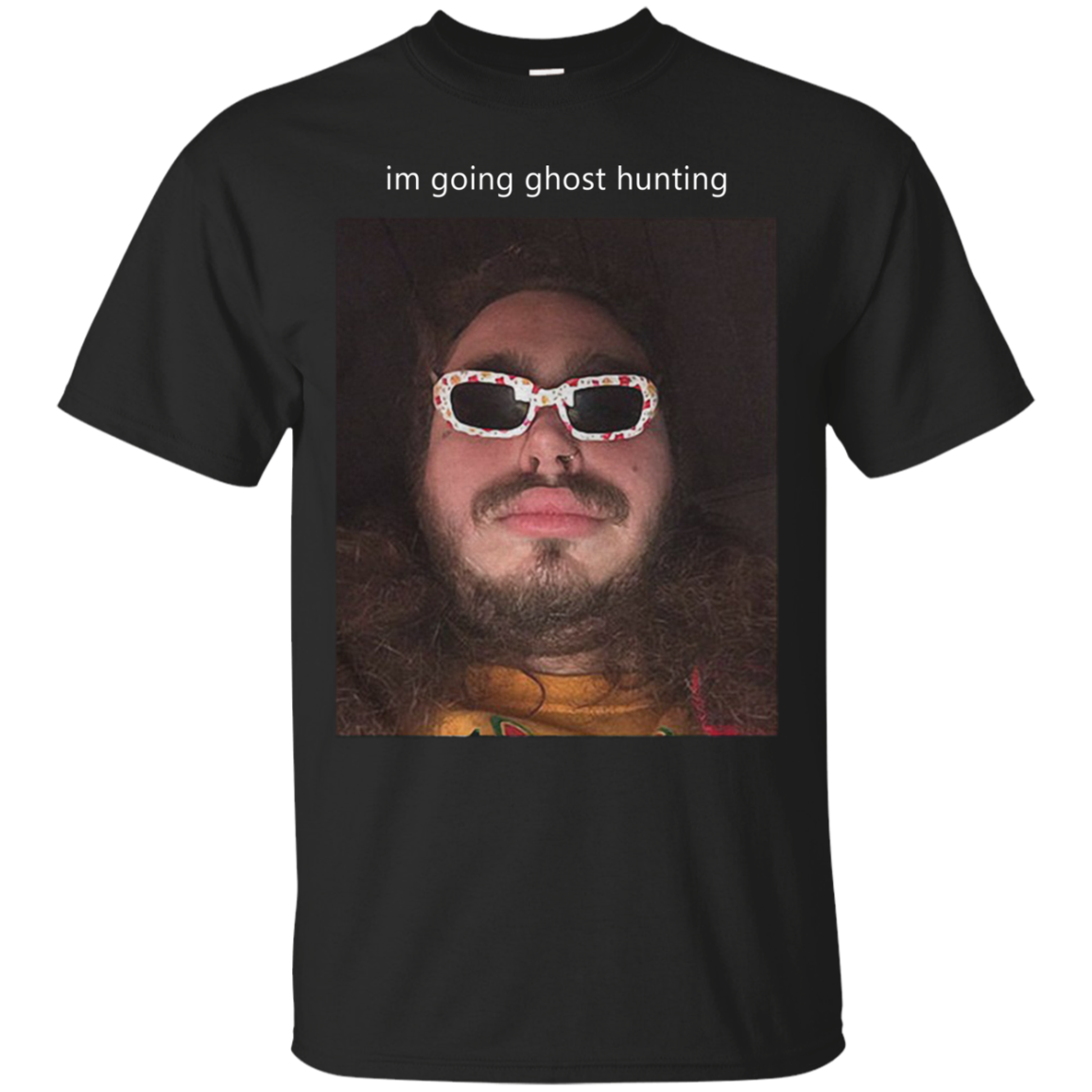 AGR Post Malone I'm Going Ghost Hunting Cotton T Shirt