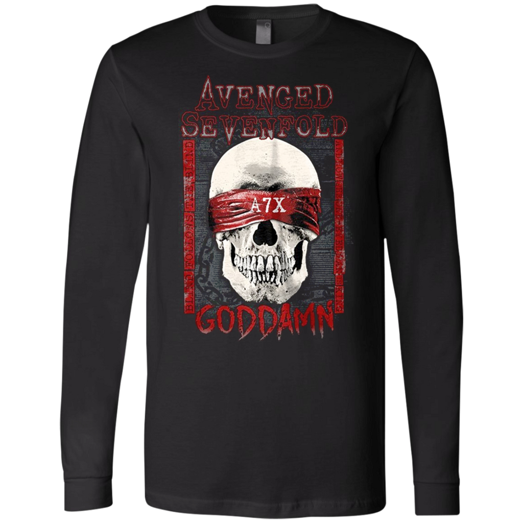 Avenged Sevenfold God Damn The Stage Rock Canvas Long Sleeves T-Shirt