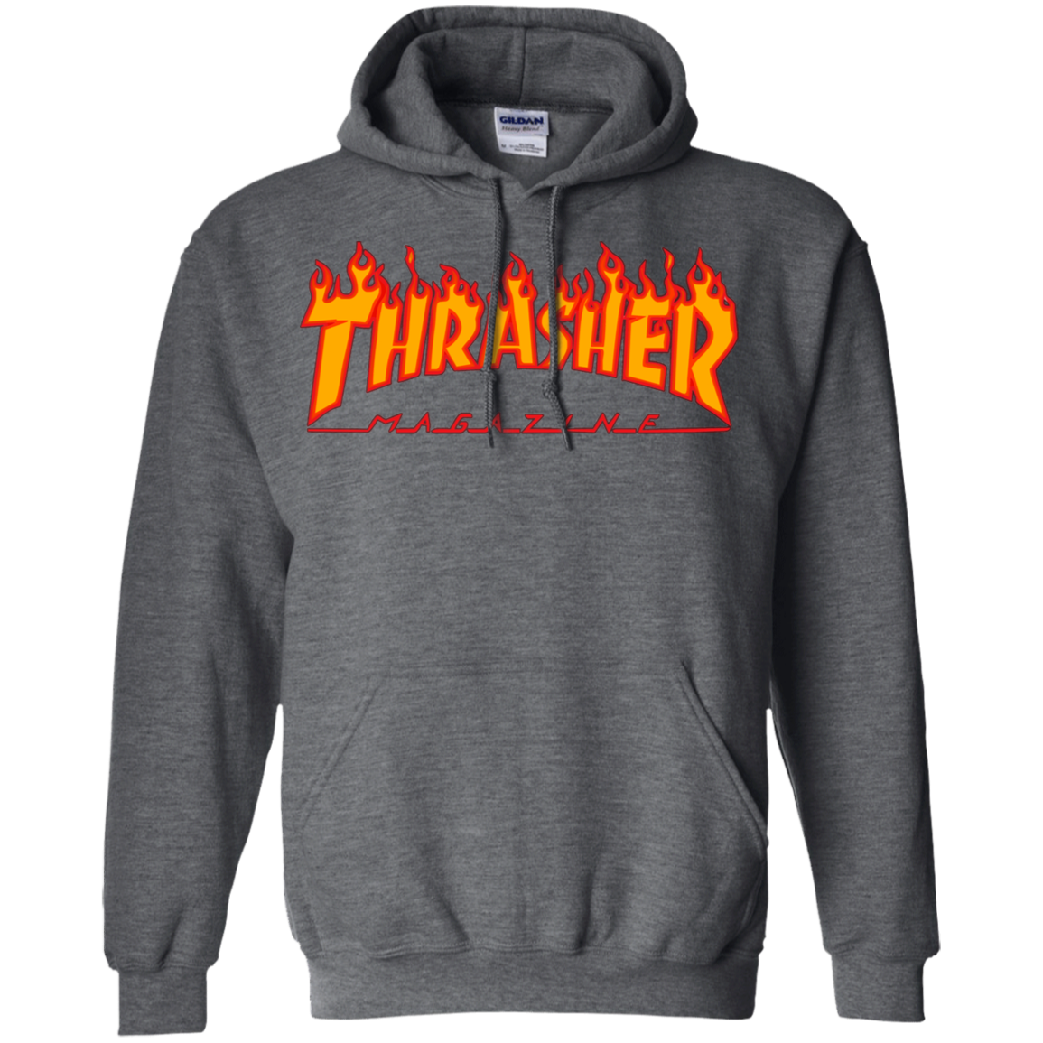 61a5401e91aa Thrasher Magazine Skateboarding Fire Design Pullover Hoodie - AGREEABLE