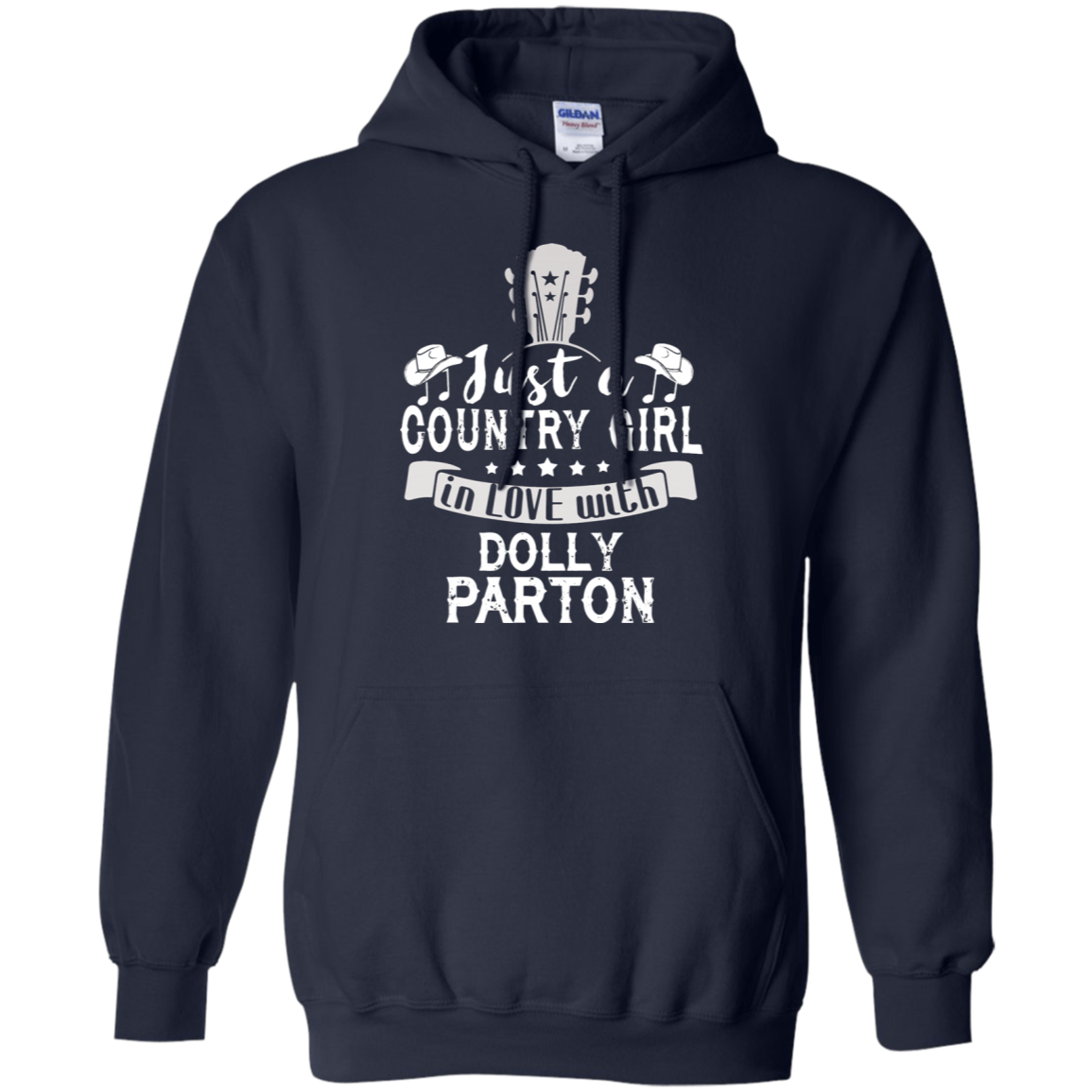 Agr Just A Country Girl In Love With Dolly Parton Hoodie -4408