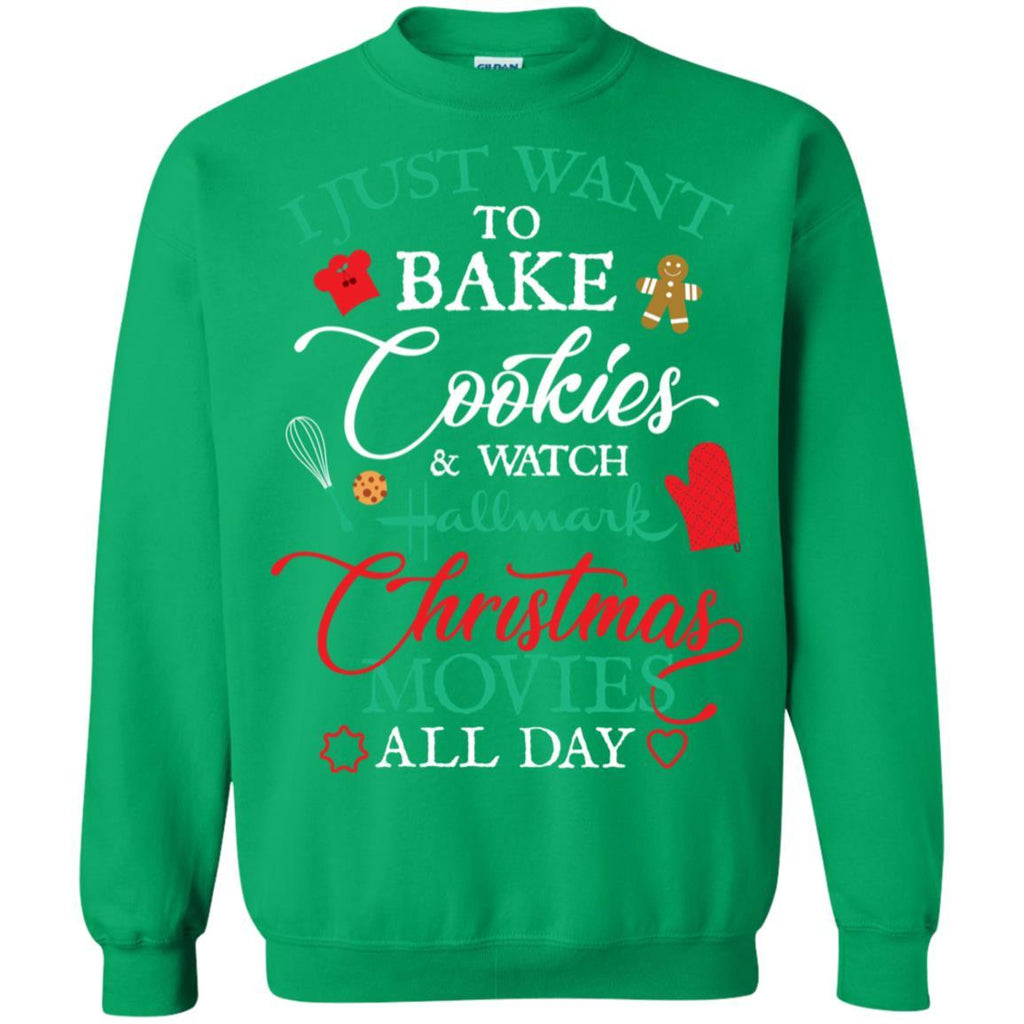 AGR I Just Want To Bake Cookies And Watch Hallmark Christmas Movies All Day