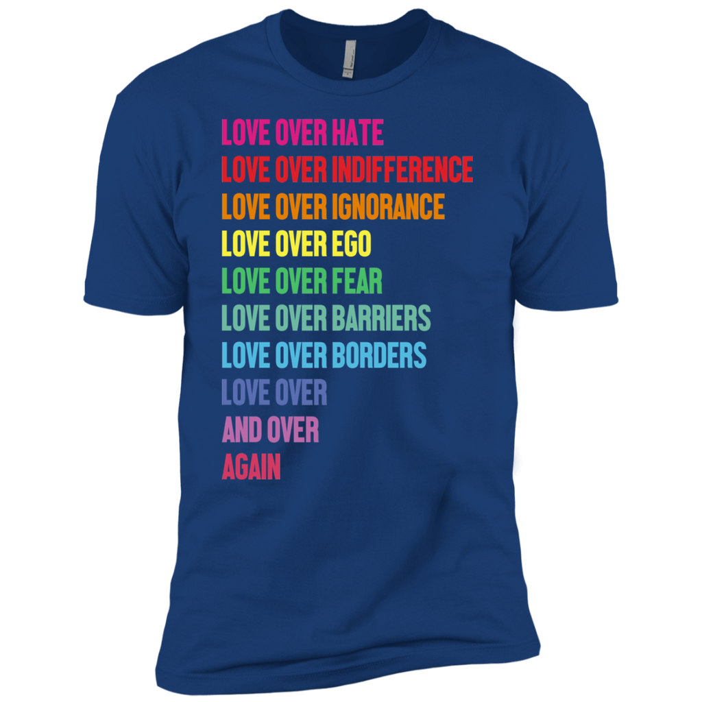 AGR Love Over Hate Love Over Indifference Love Over Ignorance Shirt