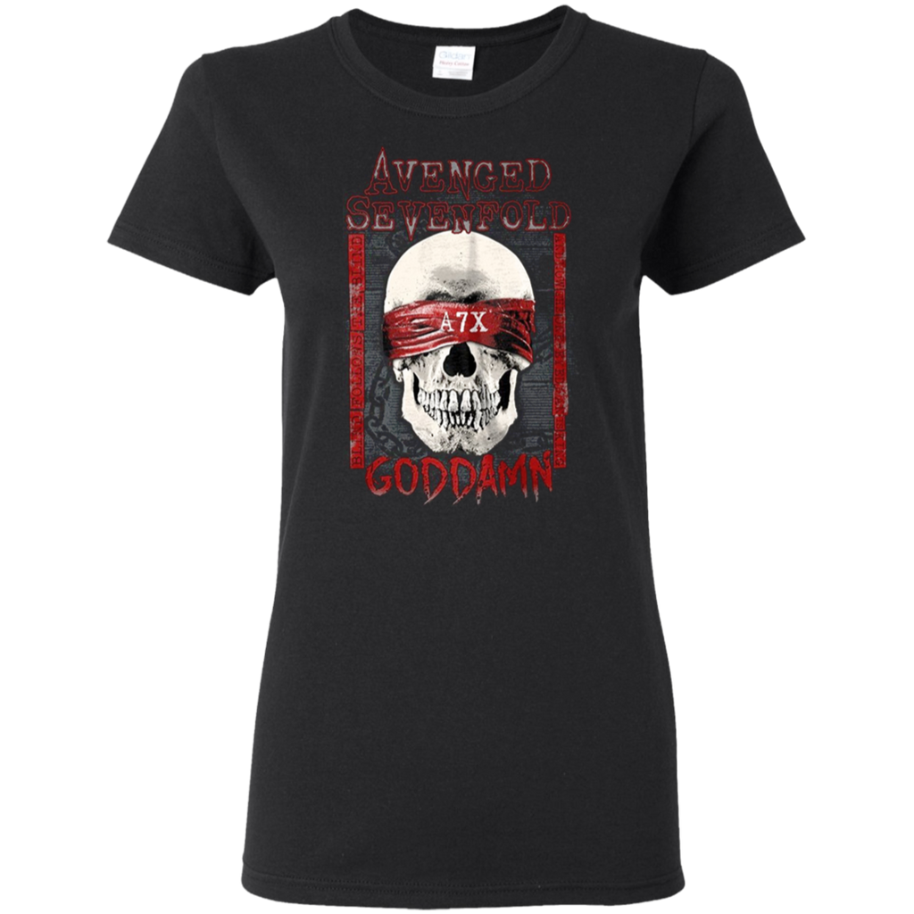 Avenged Sevenfold God Damn The Stage Rock Ladies T-Shirt