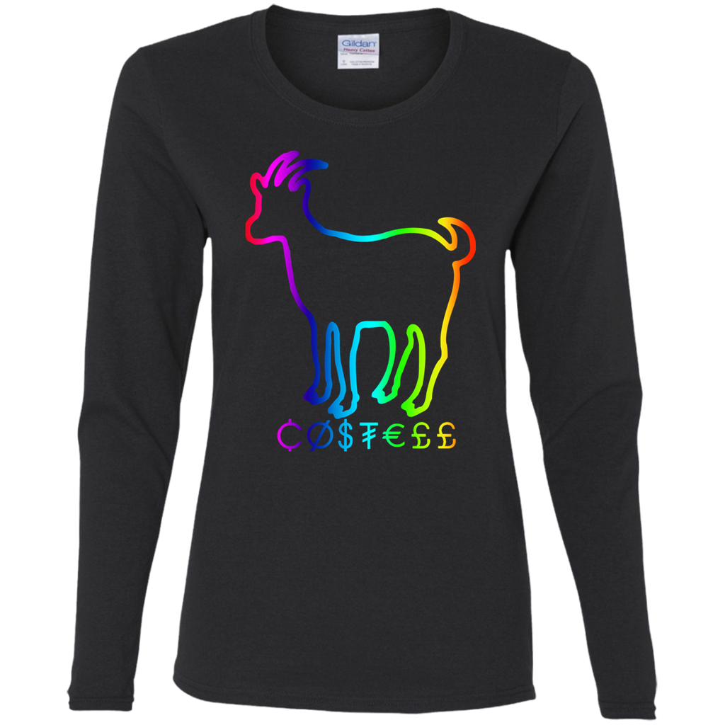 Hountersimile Ladies Erika Costell Sheep Simple Style Ladies LS T-Shirt