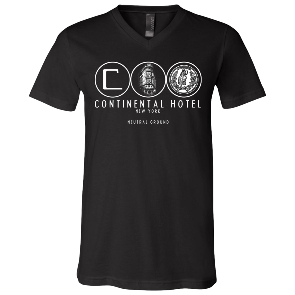 Continental hotel new york newtral ground John wick V-Neck T-Shirt
