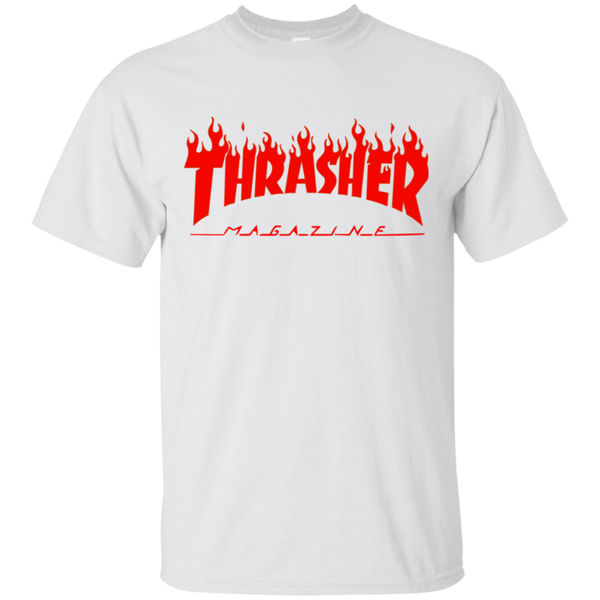 Thrasher Magazine - Skateboarding - Red Design T-Shirt
