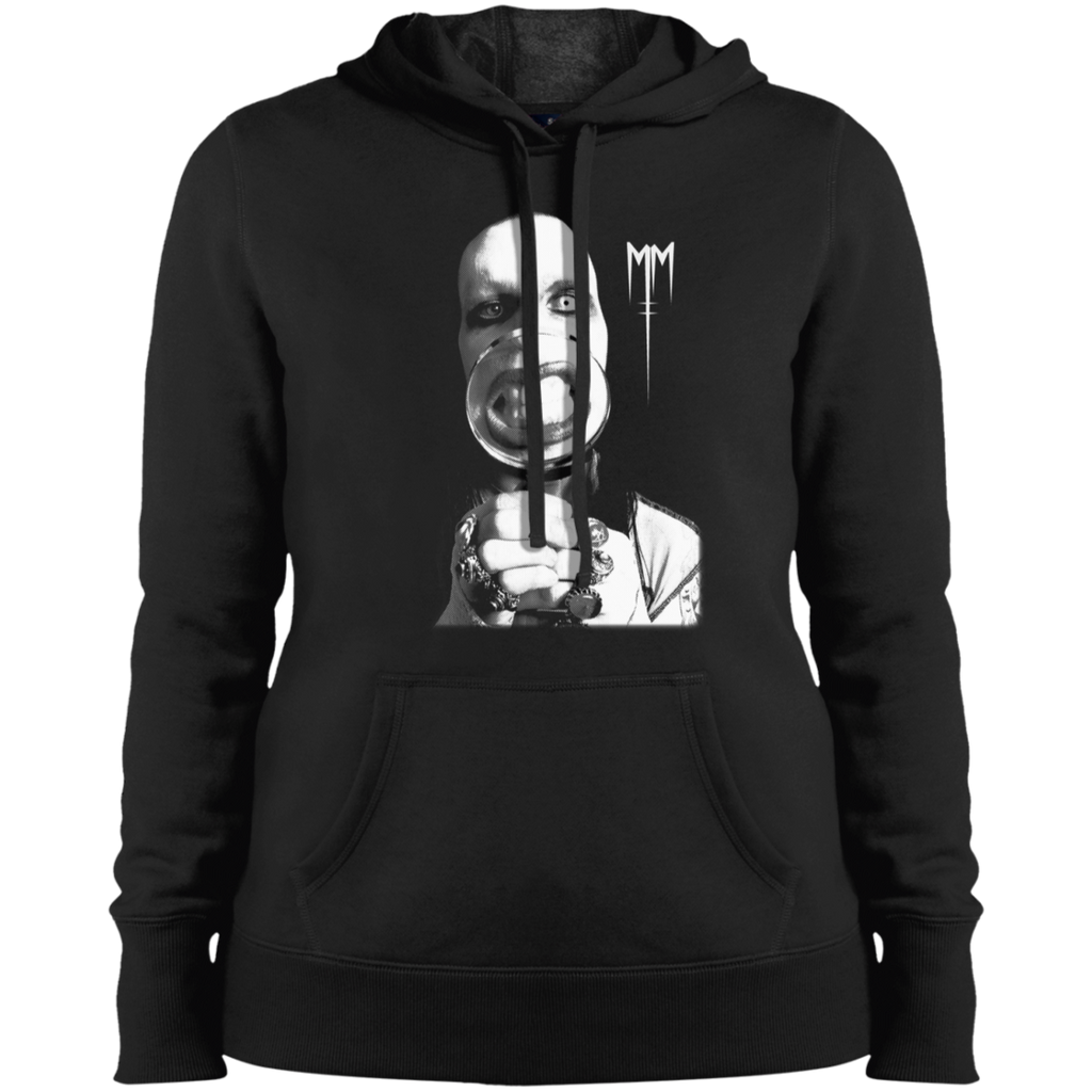 Marilyn Manson Magnifying Glass Matal Punk Ladies Pullover Hoodie