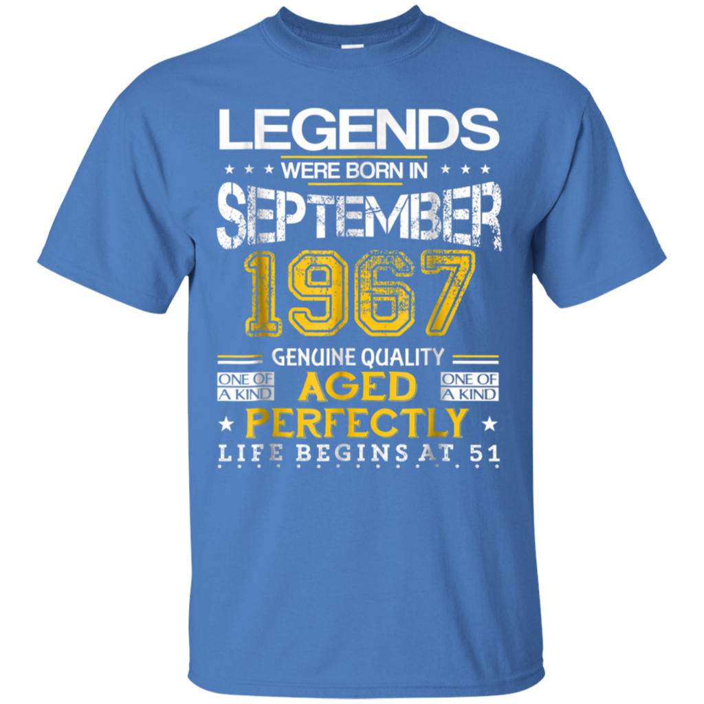 AGR 51st Birthday Gift Legends Born In 1967 September Shirt
