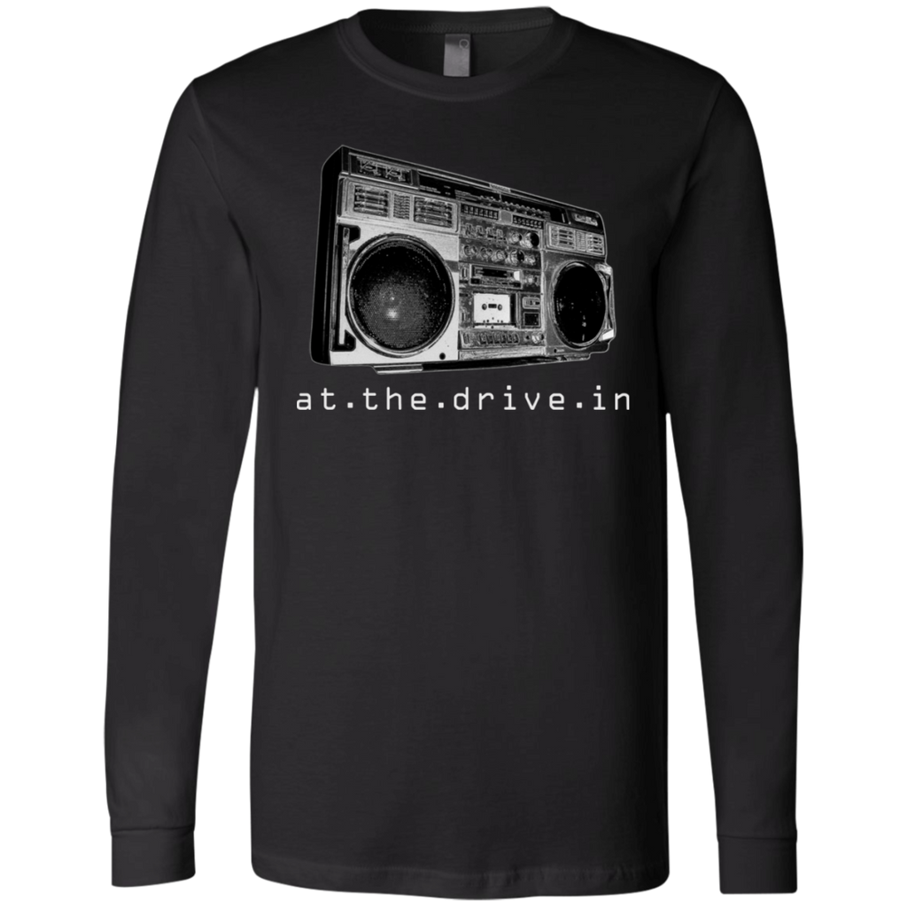 At The Drive In T Shirt Boombox Band Logo Canvas Long Sleeves T-Shirt