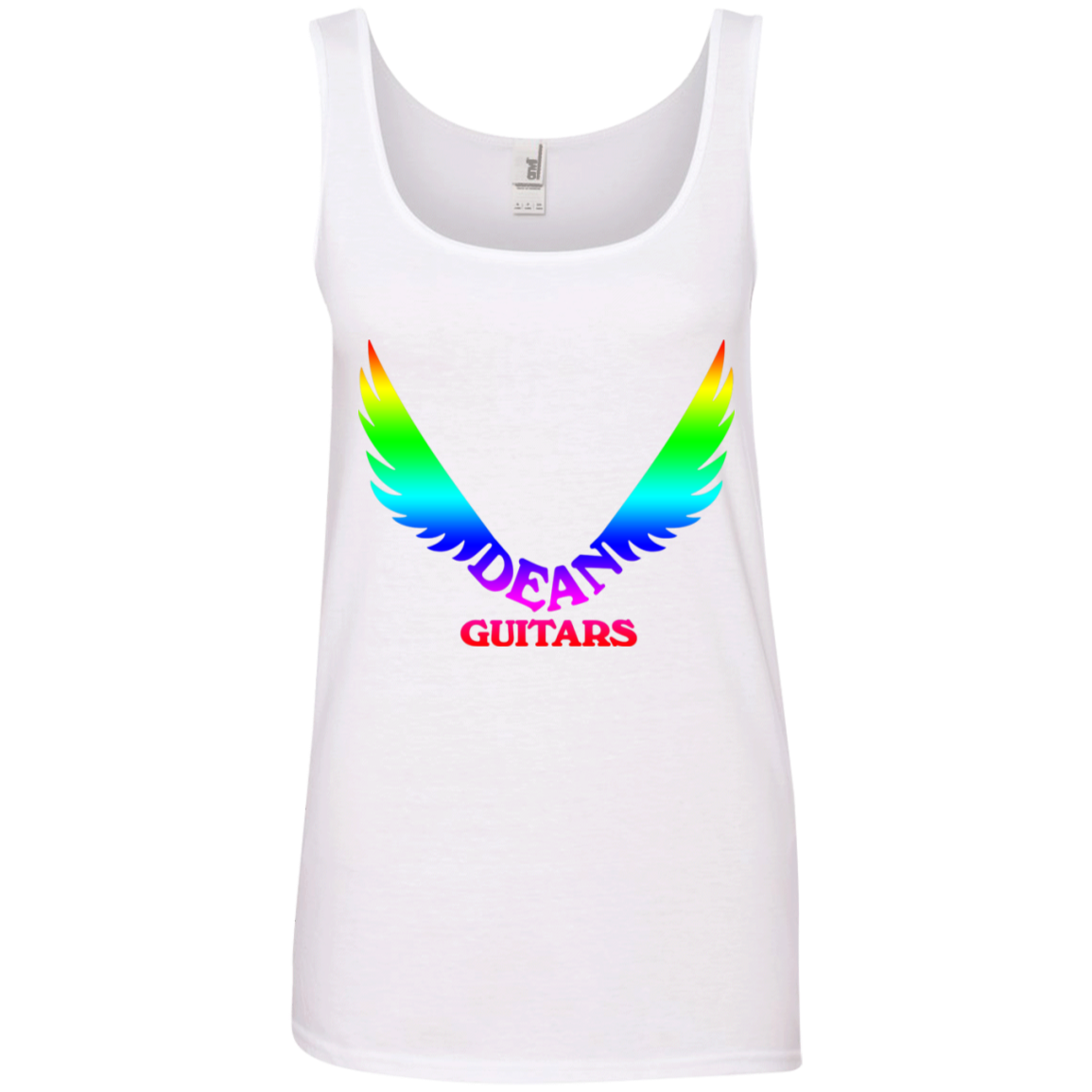 agr dean guitars logo rainbow ringspun tank top agreeable