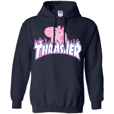 AGR Peppa Pig X Thrasher Parody Hoodie display