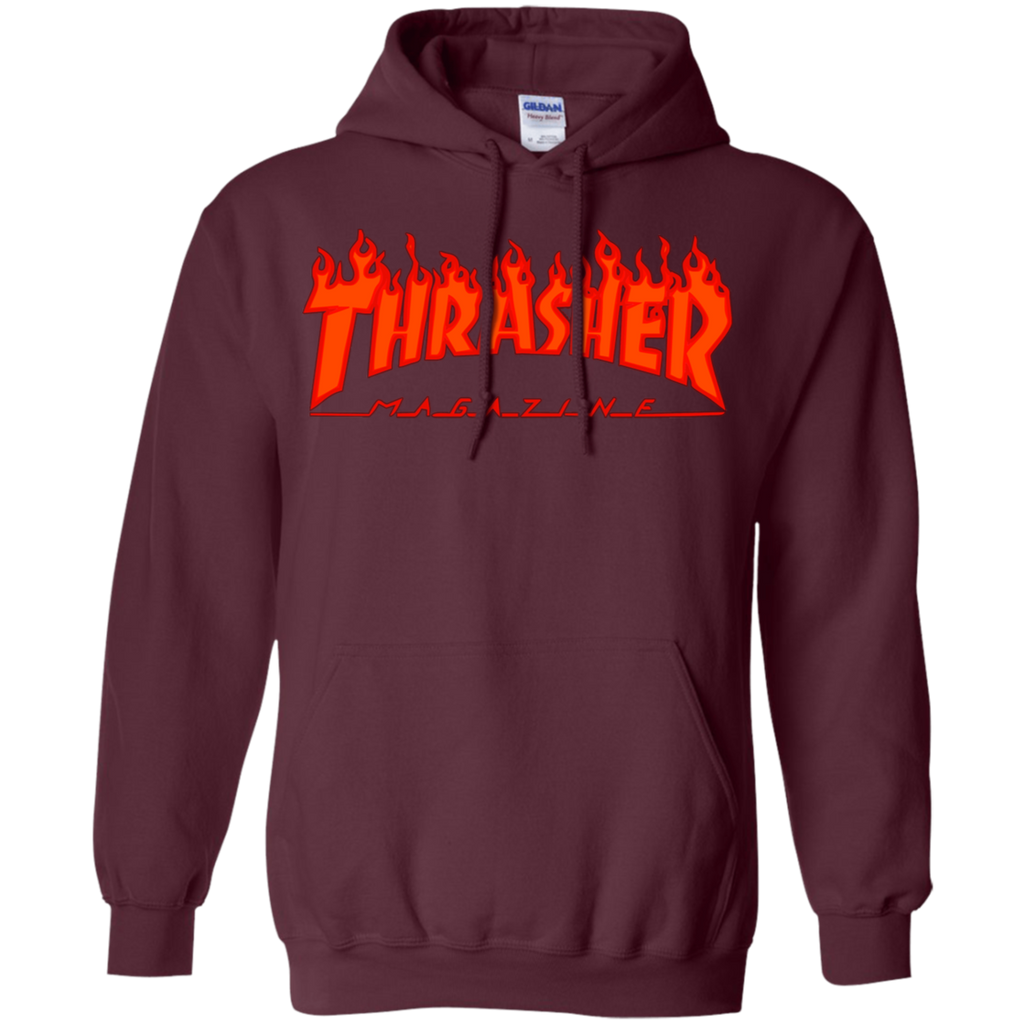 Thrasher Magazine Skateboarding Red Design Pullover Hoodie