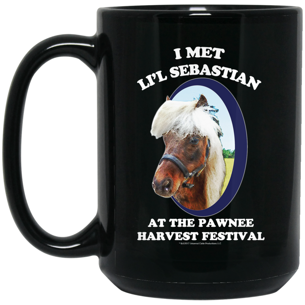 Parks and Recreation Li'l Sebastian Black Big Mug