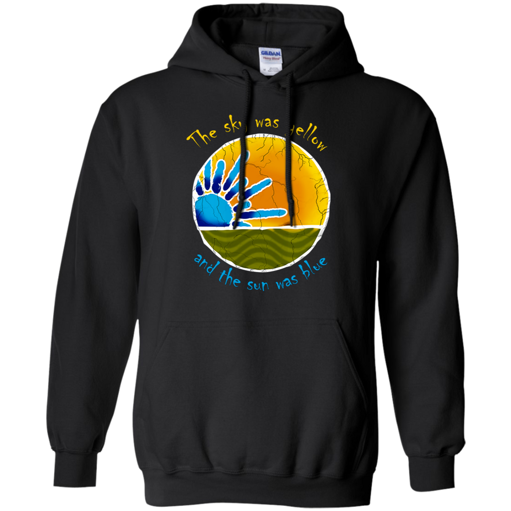 Sky Was Yellow Sun Was Blue - Scarlet Begonias Inspired Cotton (light) Pullover Hoodie