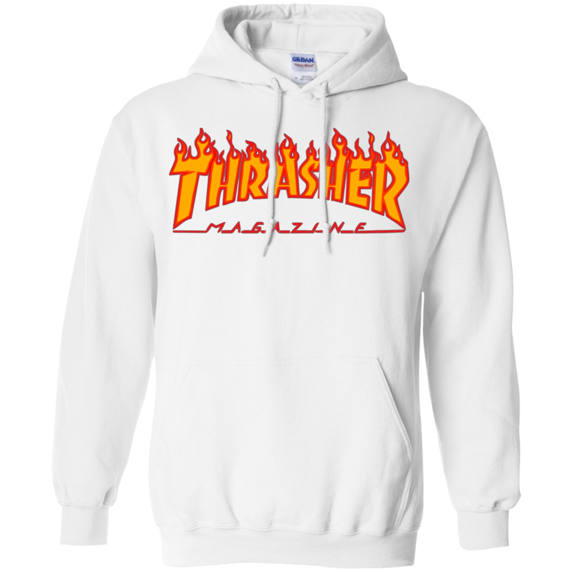 0ad9b4e6e221 Thrasher Magazine Skateboarding Fire Design Pullover Hoodie - AGREEABLE