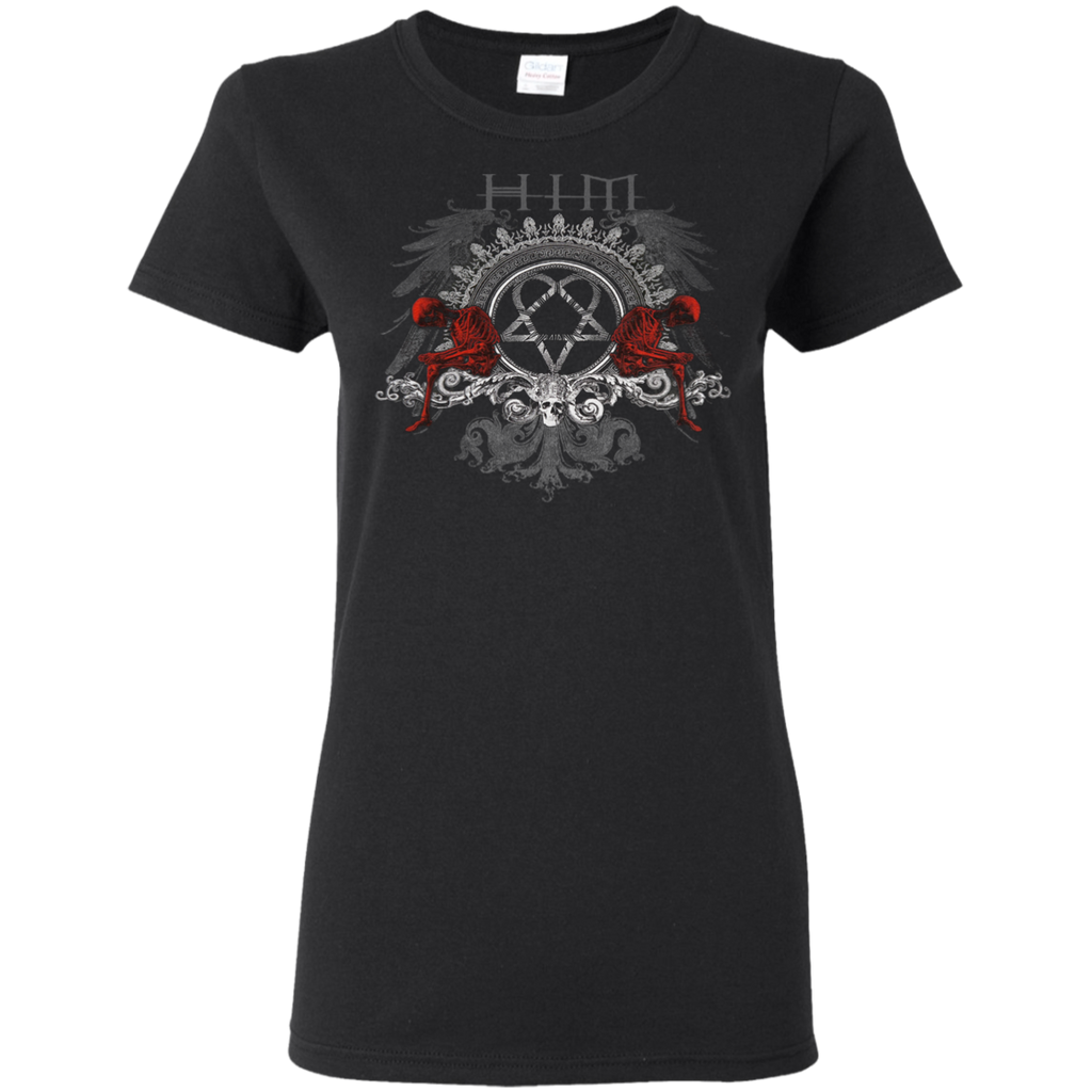H.I.M. His Infernal Majesty Heartagram & Skeleton Ladies T-Shirt