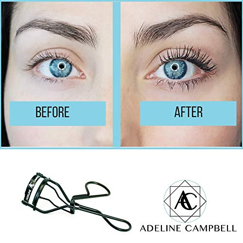 Nickle Free Eyelash Curler - Black Stainless Steel - Hypoallergenic for Sensitive Eyes- Won't Tug or Pinch! Steel - - Made for all eye shapes and lash lengths!