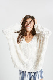 The Basic Cream Pullover Sweater