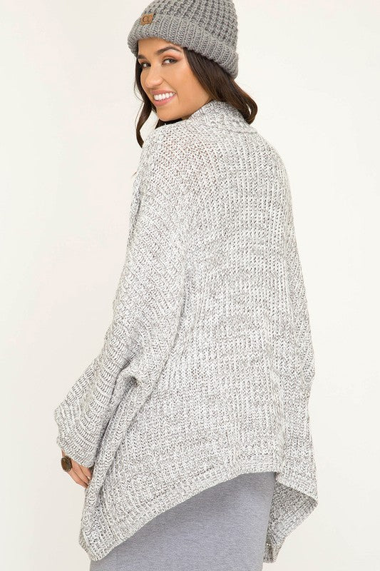 Keepin' It Cozy Oversized Gray Cardigan