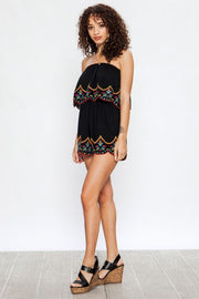 Bohemian Dreams Scalloped Trim Romper