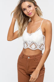 So Crochet Crop Top