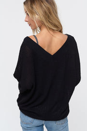 Keep Breathin Waffle Knit - Black