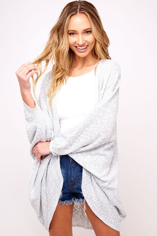 Easy Breezy Dolman Cardigan - Grey