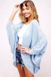 Easy Breezy Dolman Cardigan - Blue