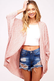 Easy Breezy Dolman Cardigan - Red