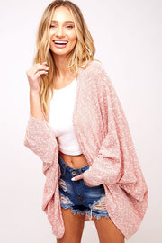 Easy Breezy Dolman Cardigan - Mauve
