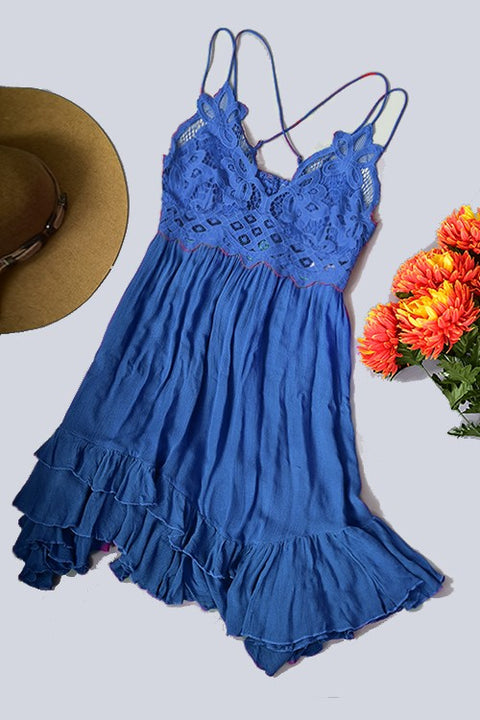 Love Story Lace Bralette Mini Dress
