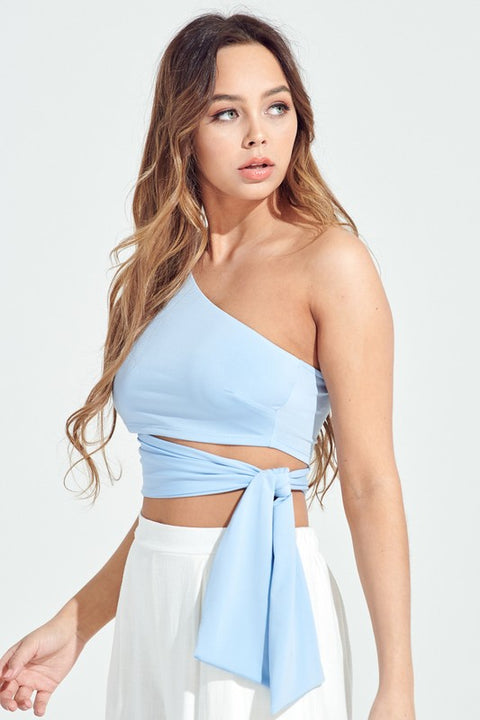 Hold Me Tight One Shoulder Crop Top