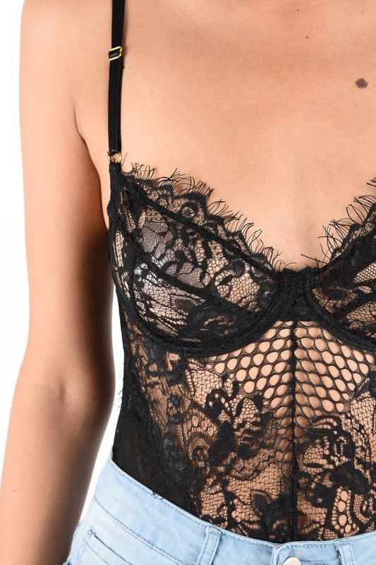 Lexi Black Lace Bodysuit