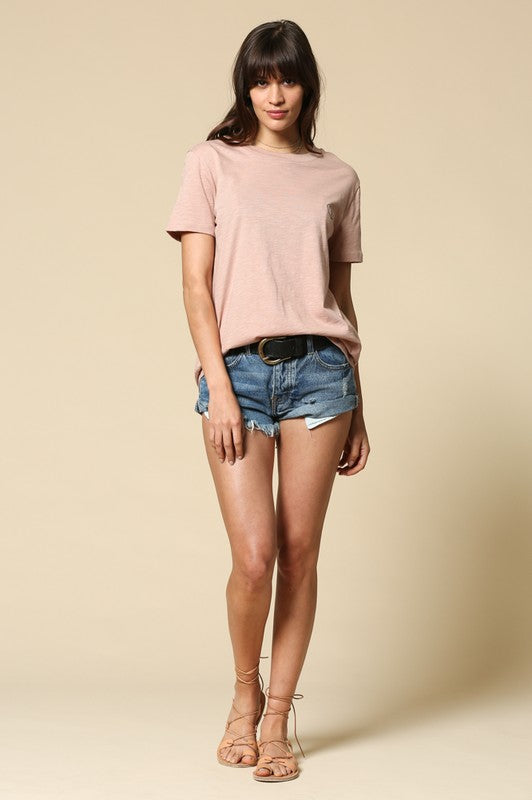 Not Your Babe Blush Cotton Tee