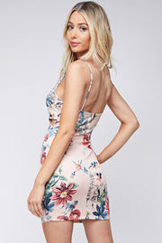 Blossomer Floral Waist Cut Out Dress