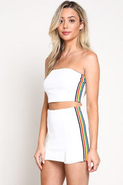 True Colors Rainbow Stripe Skort Set